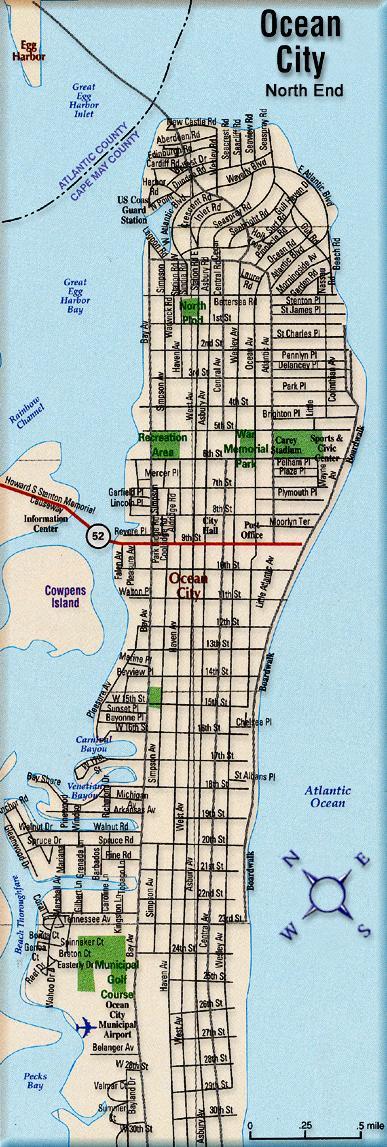 Ocean City New Jersey Island Street